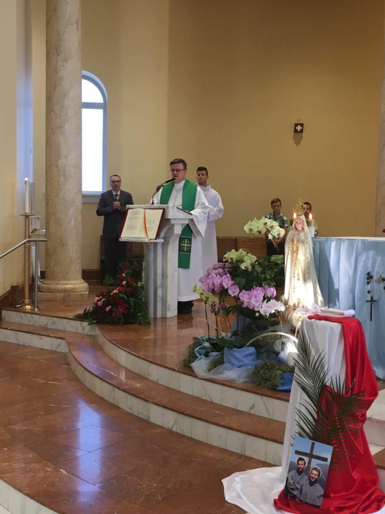 Wprowadzenie relikwii bł. Męczenników Michała i Zbigniewa